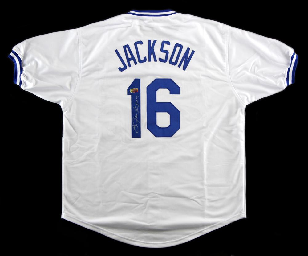 quality design 40efc 440e3 Bo Jackson Signed Kansas City White Custom Jersey