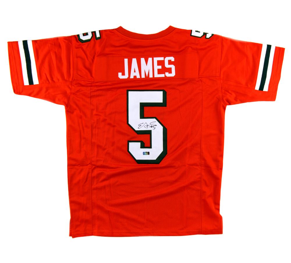 cheap for discount 8447d 8633a Edgerrin James Signed UM Custom Orange NCAA Jersey