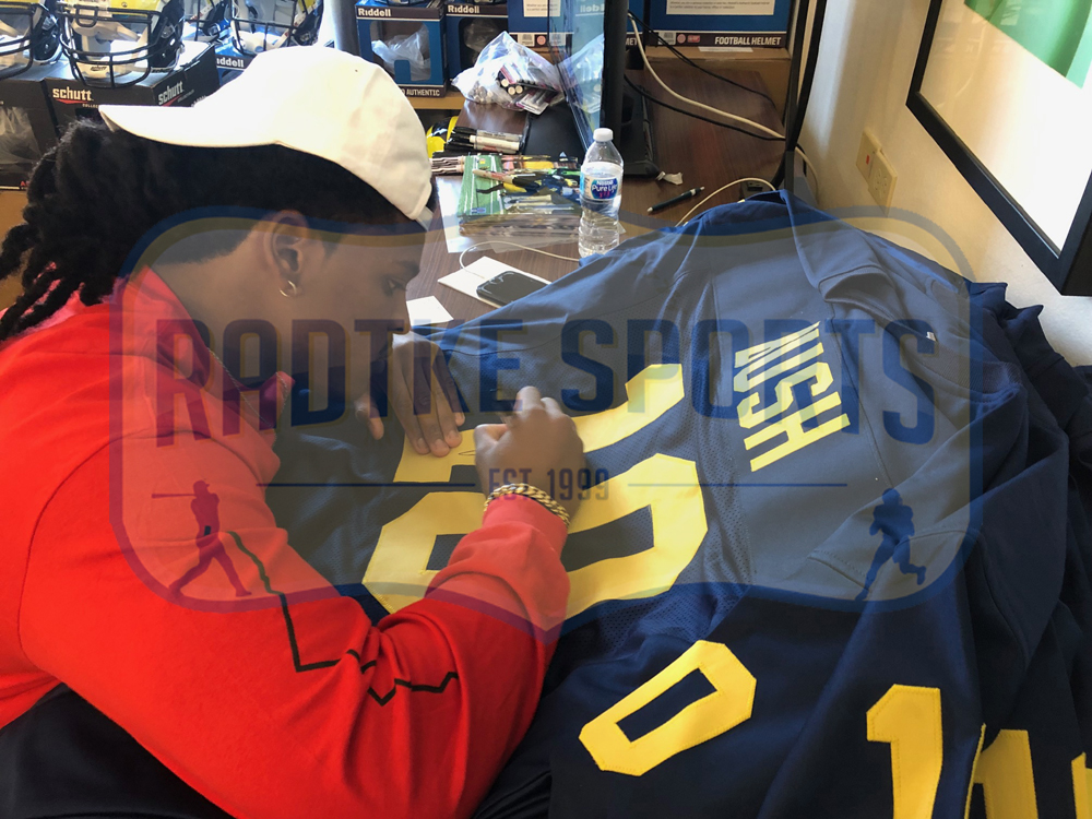 brand new 33eff 6ebb2 Devin Bush Signed Michigan Custom Navy Jersey with