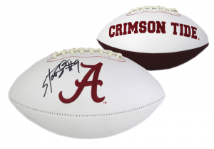 Bo Scarbrough Autographed/Signed Alabama Crimson Tide Embroidered Football-0