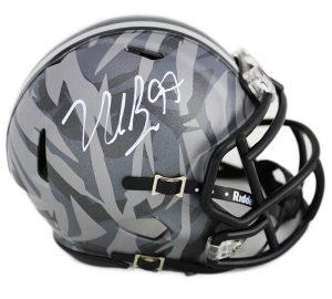 b49e58985fa Nick Bosa Signed Ohio State Buckeyes Riddell NCAA Mini Grey Camo Speed  Helmet
