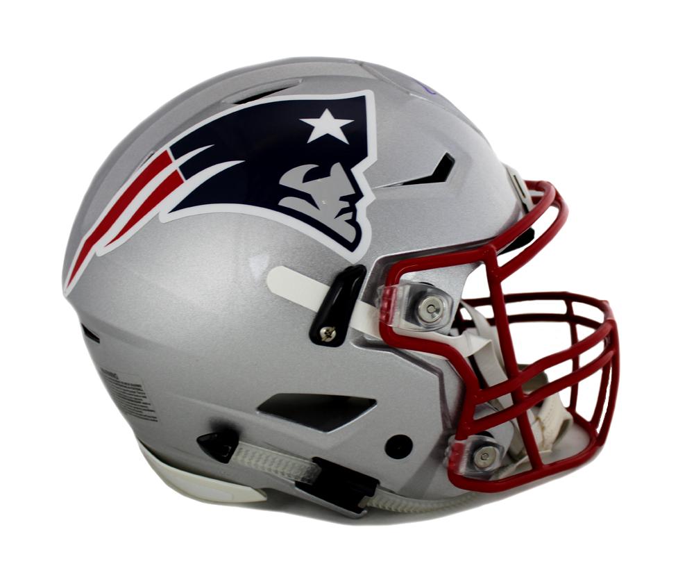 brand new a532e 9993a Tom Brady Signed New England Patriots Authentic Grey Speed Flex Helmet