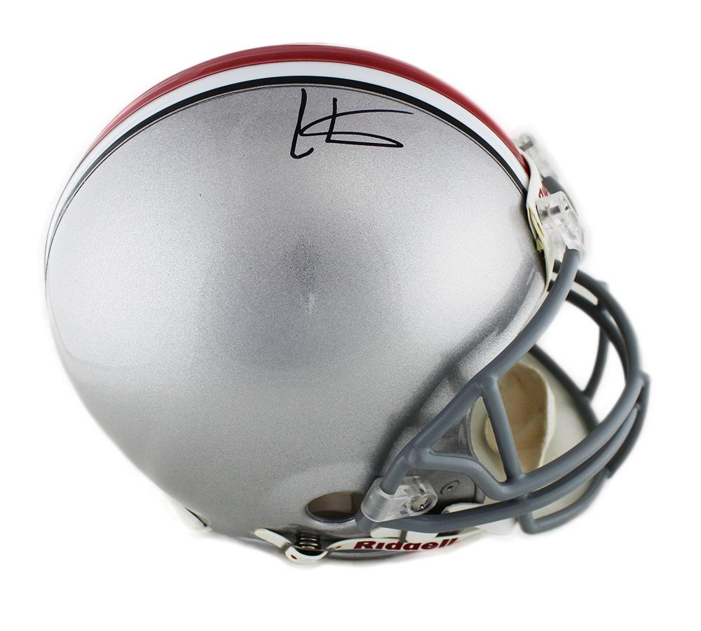 e7865102b5b Cris Carter Signed Ohio State Buckeyes Current Authentic Gray NCAA Helmet