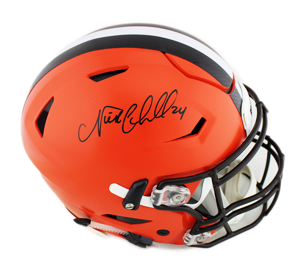 promo code d5ab6 08806 Nick Chubb Signed Cleveland Browns Riddell Authentic Speed Flex NFL Helmet