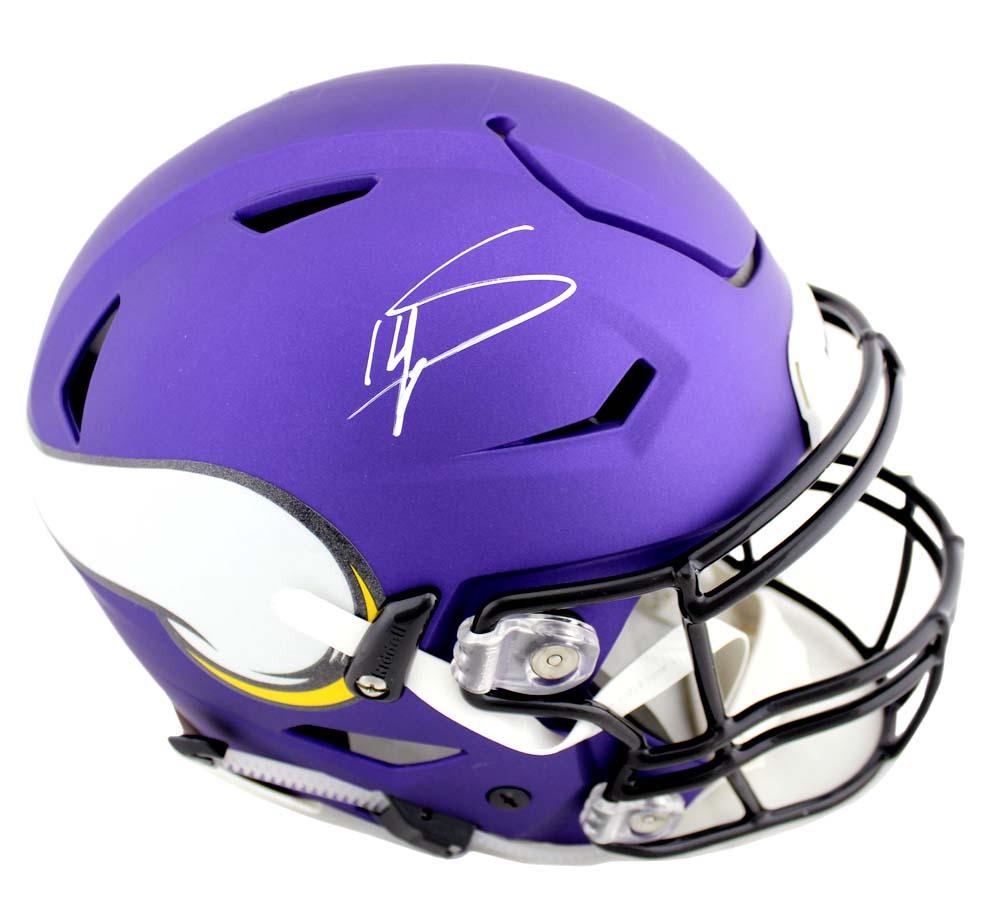 Stefon Diggs Signed Minnesota Vikings Riddell Authentic NFL Speed Flex  Helmet