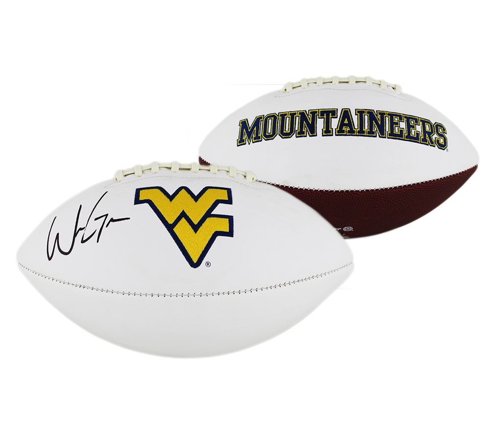 Will Grier Signed West Virginia Mountaineers Embroidered Football