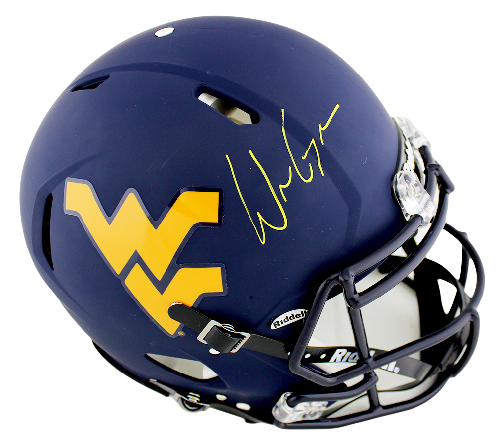 Will Grier Signed West Virginia Mountaineers Speed Authentic Ncaa Helmet