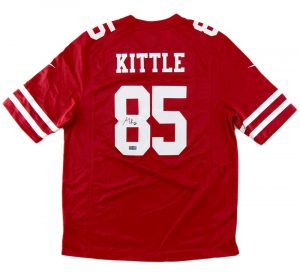 80ab0f76d George Kittle Signed San Francisco Nike Red Jersey