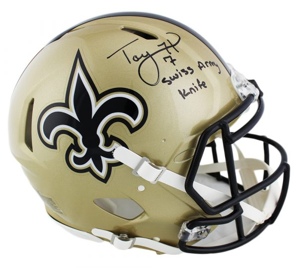 Taysom Hill Signed New Orleans Saints Speed Authentic Nfl
