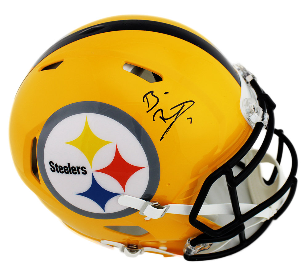 best cheap 80ead 9750a Ben Roethlisberger Signed Pittsburgh Steelers Speed Authentic Yellow NFL  Helmet