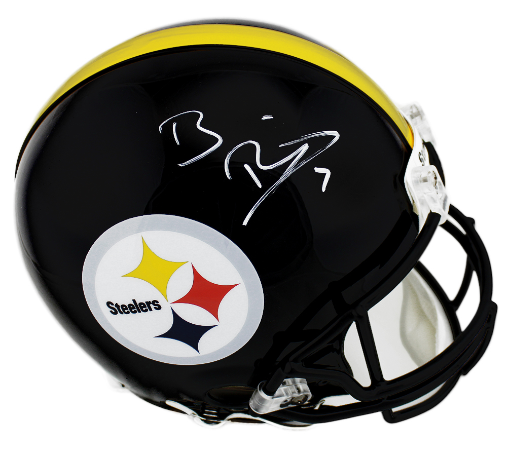 new style d34db eaa69 Ben Roethlisberger Signed Pittsburgh Steelers Authentic NFL Helmet