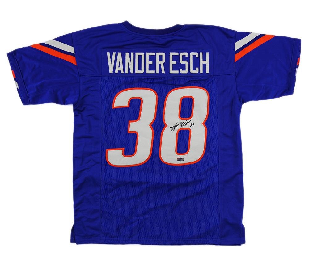 super popular de461 d49a4 Leighton Vander Esch Signed Boise State Custom Blue Jersey