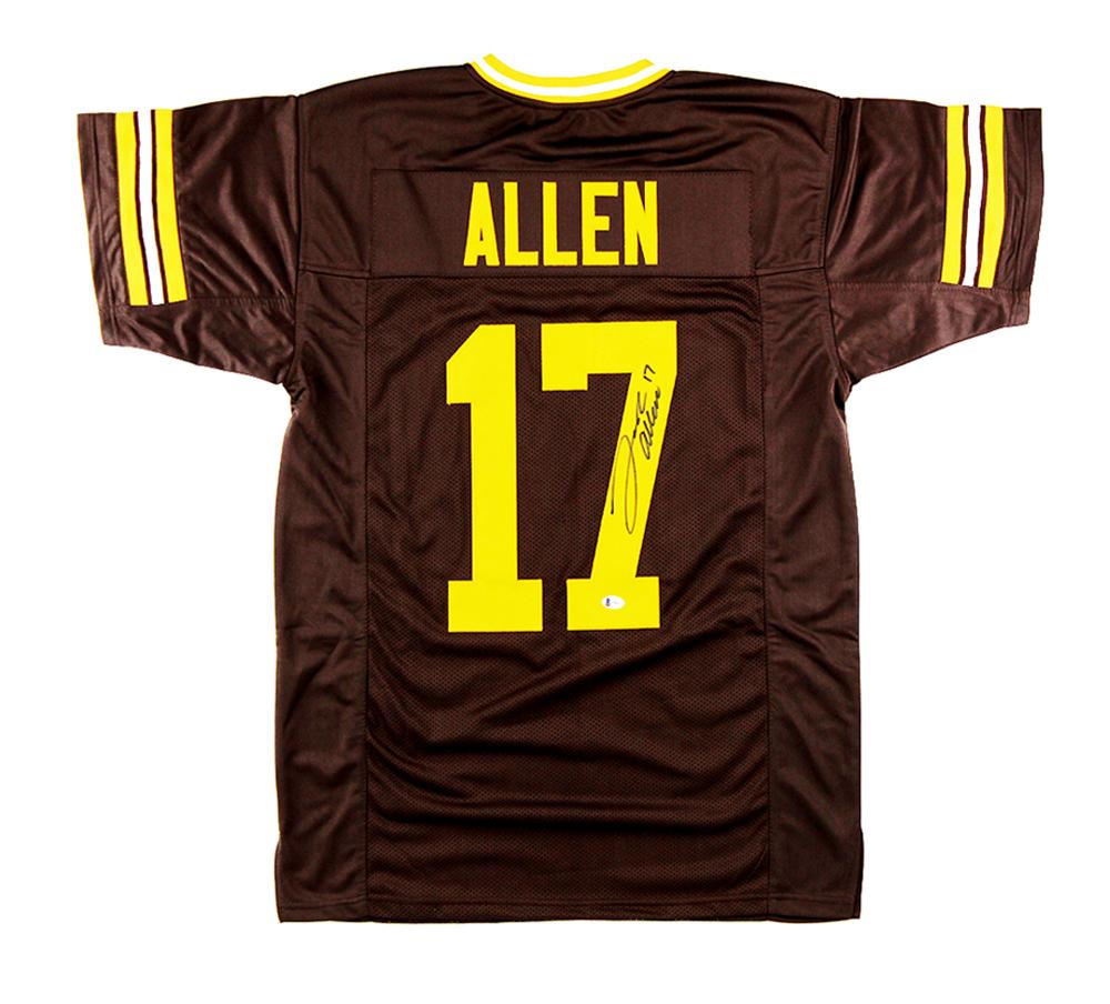 Josh Allen Signed Wyoming Custom Brown Jersey