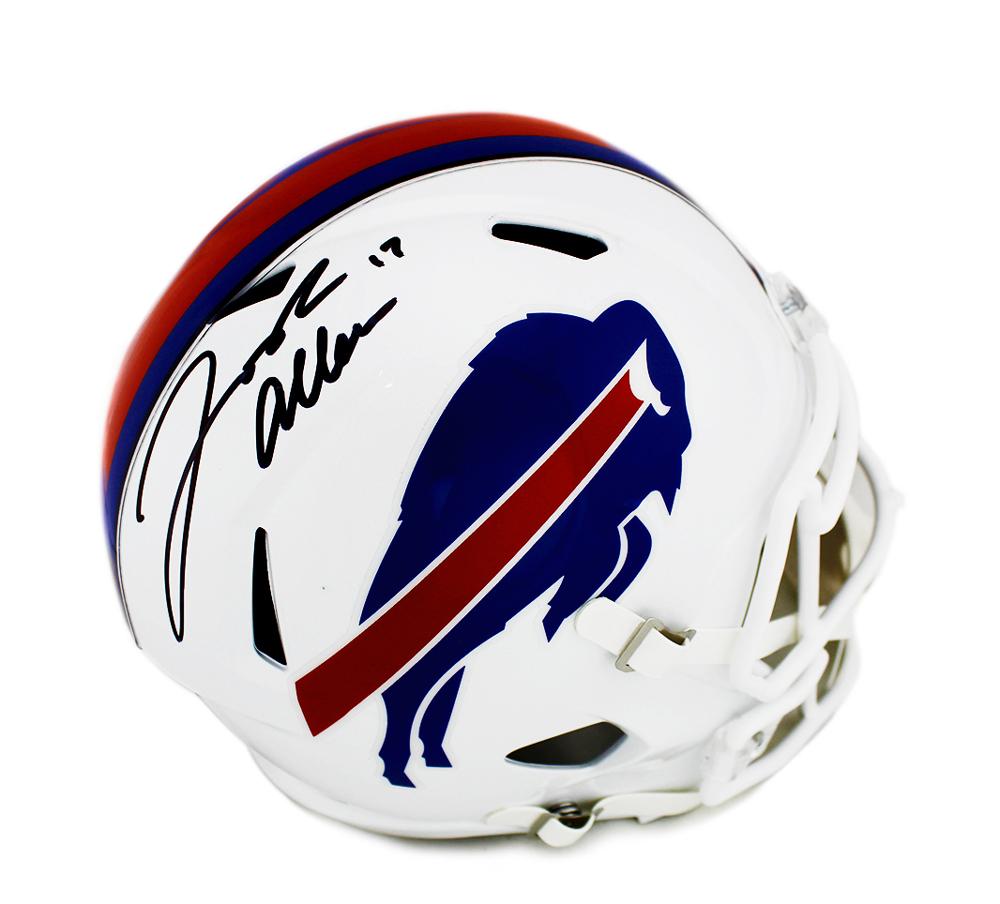 huge discount 2f580 db684 Josh Allen Signed Buffalo Bills Speed Full Size Color Rush NFL Helmet