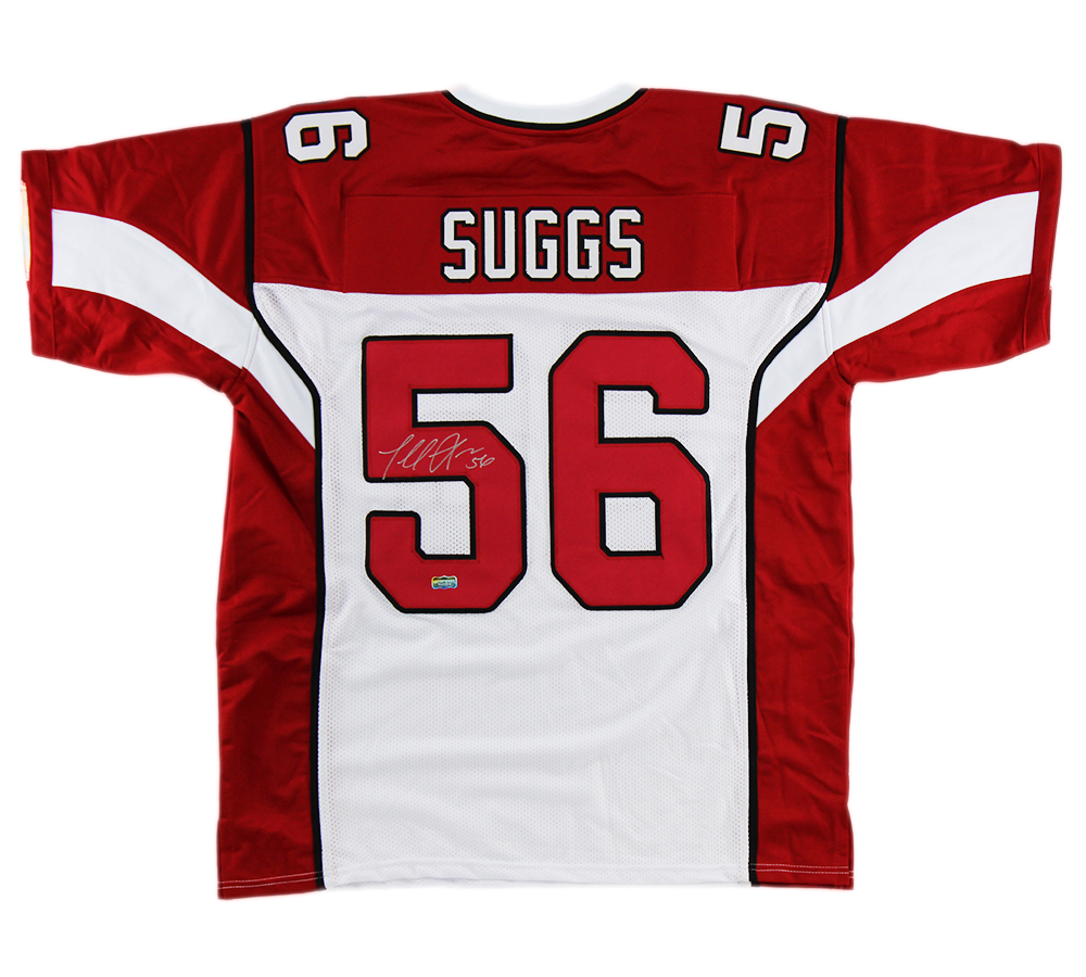 premium selection 08ca1 36e1a Terrell Suggs Signed Arizona Custom Red Jersey