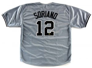 Alfonso Soriano Signed New York Yankees Grey Custom Jersey-0