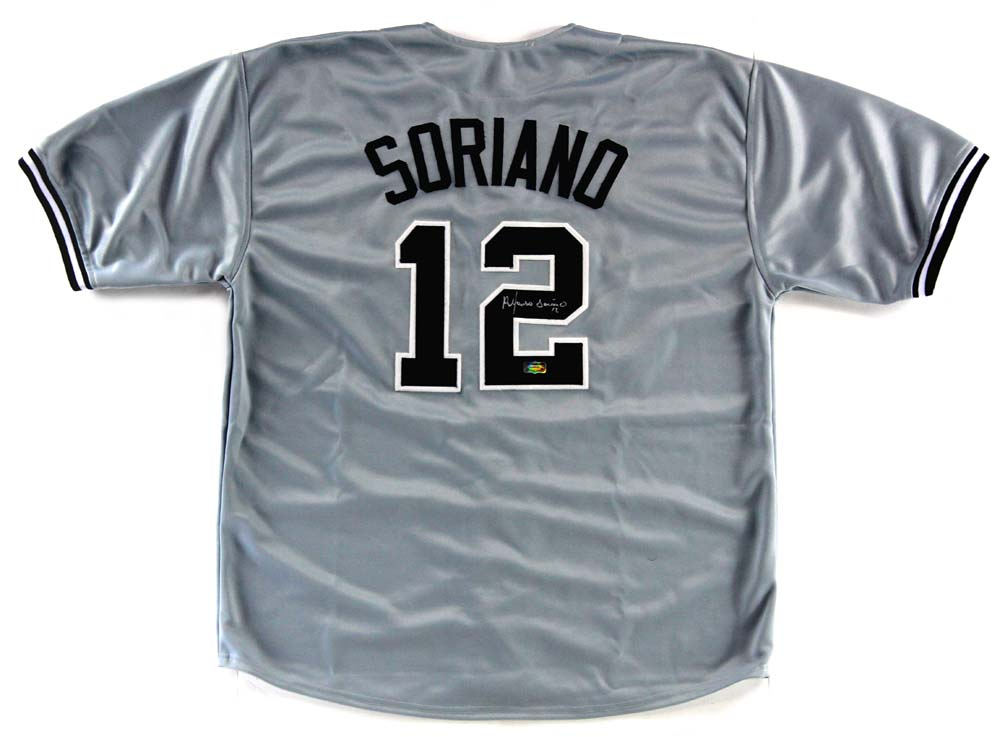 more photos 56b61 fe289 Alfonso Soriano Signed New York Yankees Grey Custom Jersey