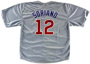 Alfonso Soriano Signed Chicago Cubs Grey Custom Jersey-0