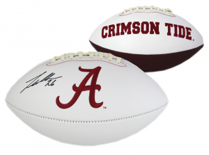 Landon Collins Signed Alabama Crimson Tide Embroidered Football-0