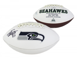 Eddie Lacy Signed Seattle Seahawks Embroidered NFL Logo Football-0