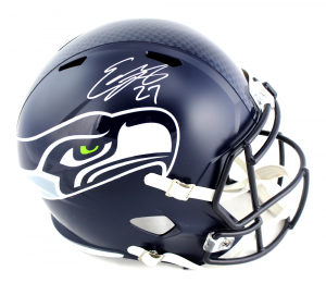 Eddie Lacy Signed Seattle Seahawks NFL Speed Full Size Helmet-0