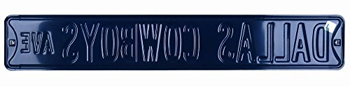 Dallas Cowboys Avenue Officially Licensed Authentic Steel 36x6 Navy & Silver NFL Street Sign-6447
