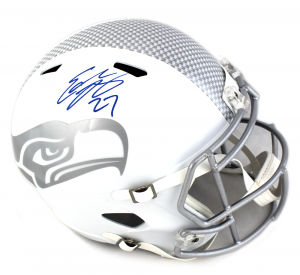 Eddie Lacy Signed Seattle Seahawks NFL Speed Ice Full Size Helmet-0