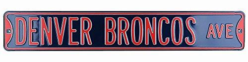 Denver Broncos Avenue Officially Licensed Authentic Steel 36x6 Navy Blue & Orange NFL Street Sign-6462