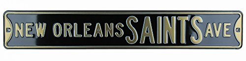 New Orleans Saints Avenue Officially Licensed Authentic Steel 36x6 Black & Gold NFL Street Sign-6464