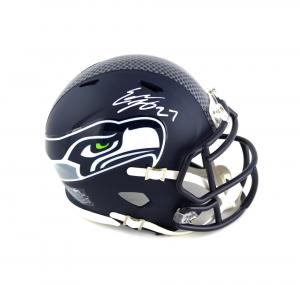 Eddie Lacy Signed Seattle Seahawks NFL Speed Mini Helmet-0