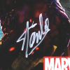 Stan Lee Signed 2-Sided Marvel Avengers Motion Picture 24x36 Original Movie Poster-26071