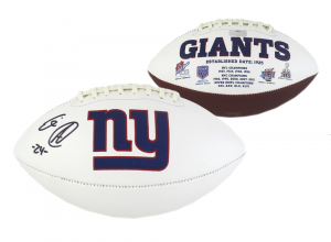 Eli Apple Signed NFL New York Giants Embroidered Football-0