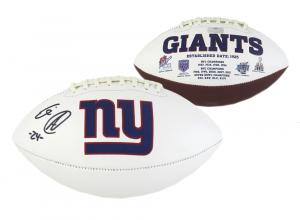 Eli Apple Signed NFL New York Giants Embroidered Football-0