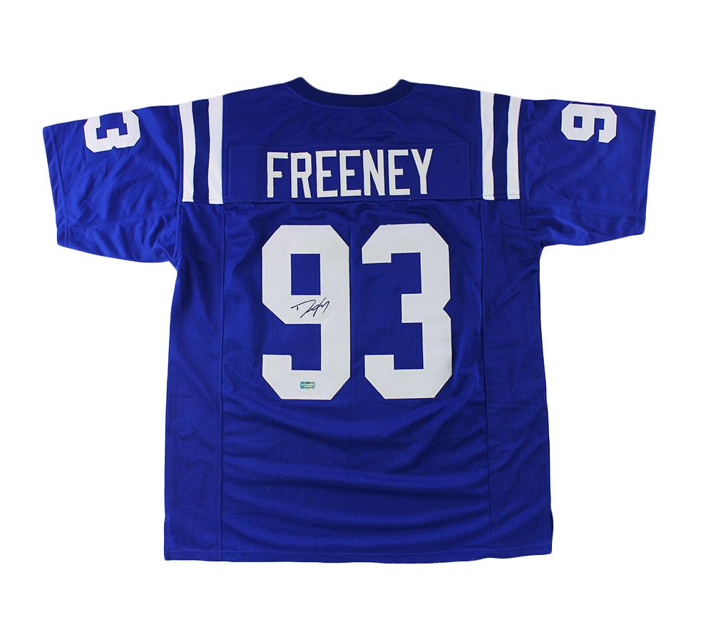 Dwight Freeney Signed Indianapolis Custom Blue Jersey