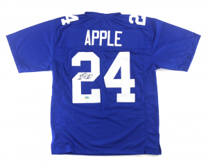 Eli Apple Signed New York Giants Blue Custom Jersey-0