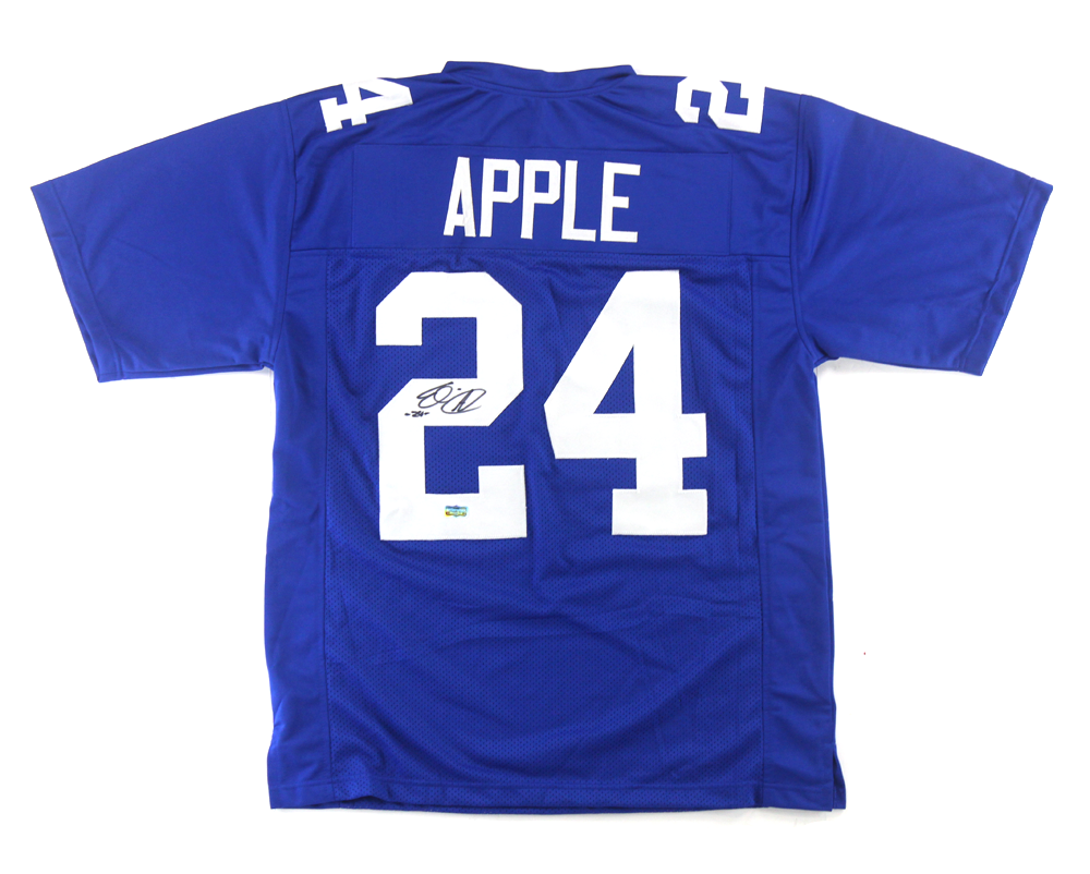 Top Eli Apple Signed New York Giants Blue Custom Jersey  for sale