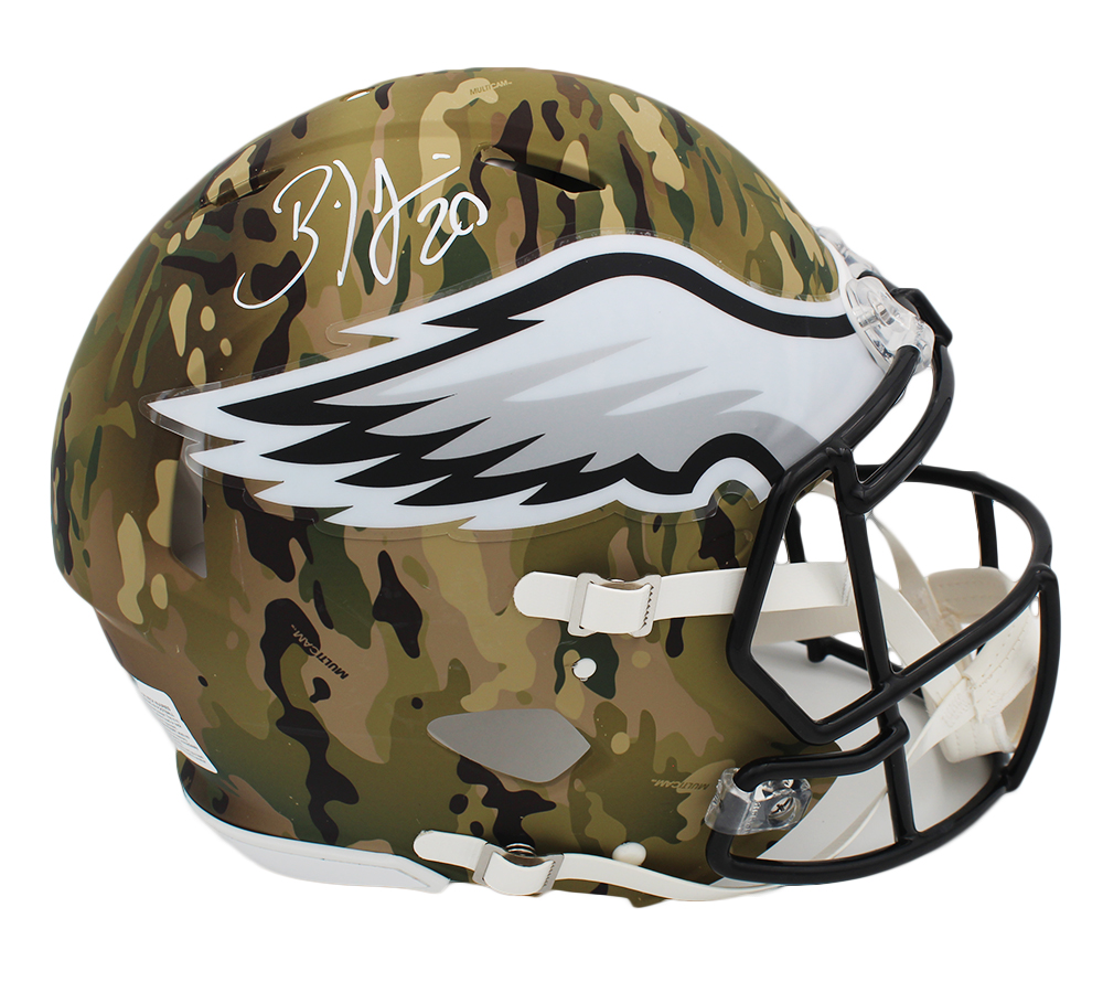 Brian Dawkins Signed Philadelphia Eagles Speed Authentic Camo NFL Helmet