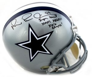"""Michael Irvin Autographed/Signed Dallas Cowboys Riddell Full Size NFL Helmet With """"Playmaker & Champs"""" Inscription-0"""