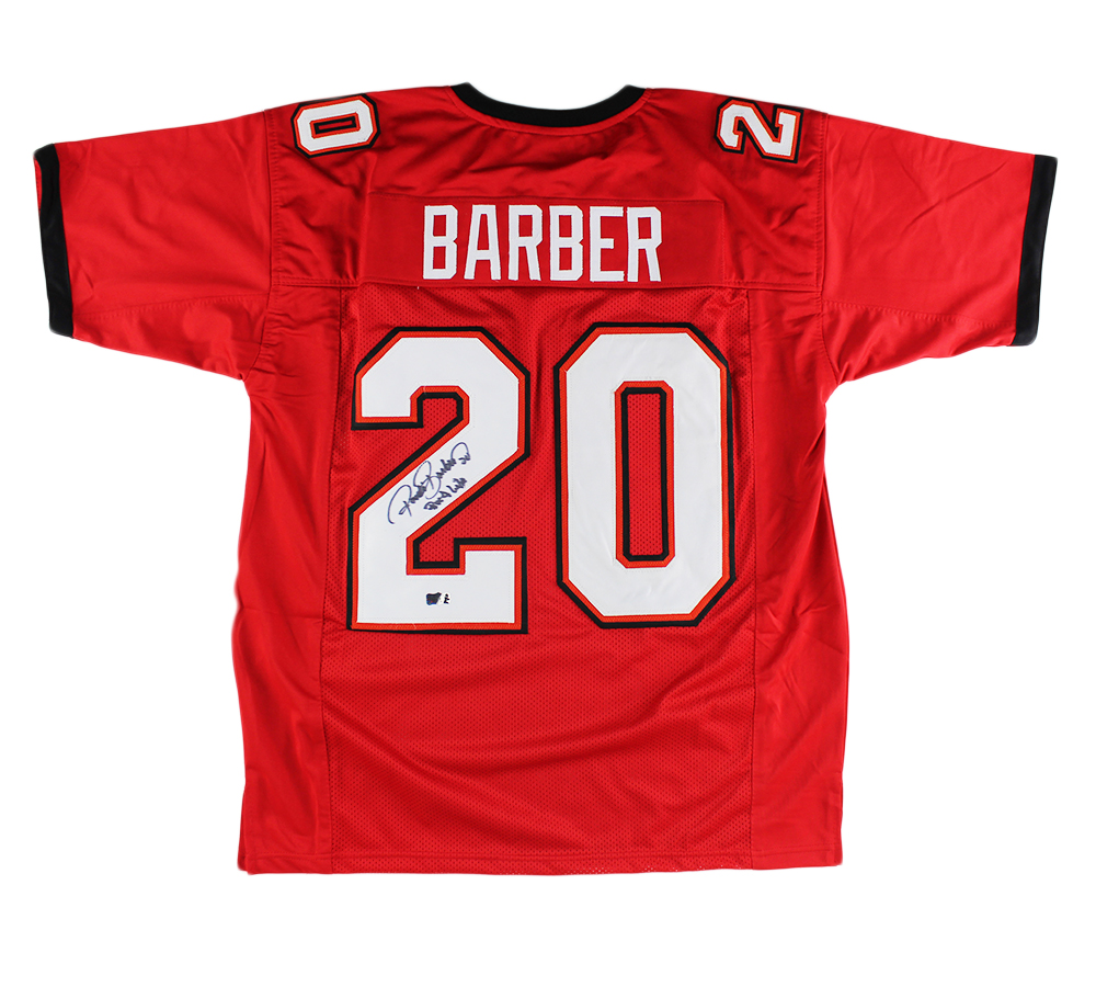 Ronde Barber Signed Tampa Bay Custom Red Jersey with