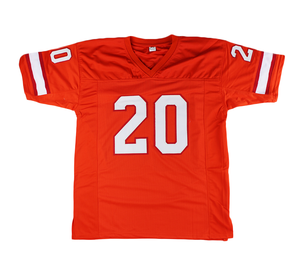 Ronde Barber Signed Tampa Bay Custom Orange Jersey with