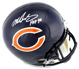 5faa19cf5e3 Mike Singletary Signed Chicago Bears Riddell Full Size NFL Helmet with