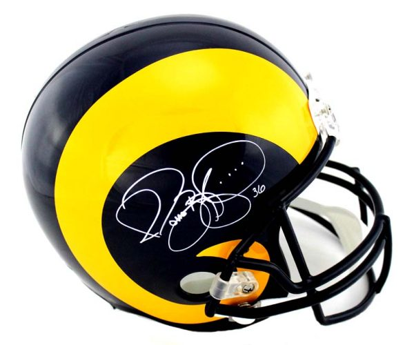 Jerome Bettis Signed Los Angeles Rams Riddell Throwback Full Size NFL Helmet-0