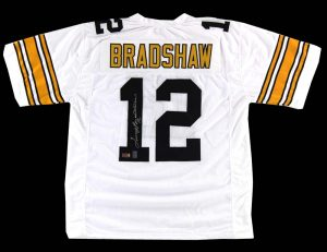 Terry Bradshaw Signed Pittsburgh Steelers Custom White Jersey -0