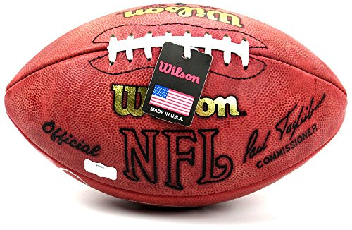 Michael Irvin Autographed/Signed Dallas Cowboys Wilson Throwback Authentic NFL Football with quotPlaymakerquot Inscription-6570
