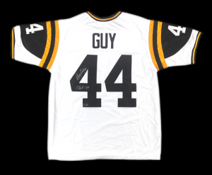 "Ray Guy Signed Southern Miss Golden Eagles White Custom Jersey with ""CHOF 04"" Inscription-0"