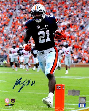 Kerryon Johnson Signed Auburn Tigers NCAA 8x10 Photo - Vertical-0