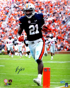 Kerryon Johnson Signed Auburn Tigers NCAA 16x20 Photo - Vertical-0