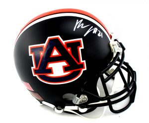 Kerryon Johnson Signed Auburn Tigers NCAA Black Schutt Authentic Helmet -0