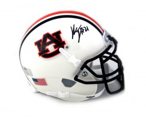 Kerryon Johnson Signed Auburn Tigers NCAA Schutt Mini Helmet-0
