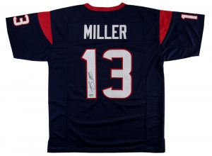 Braxton Miller Signed Houston Texans Custom Blue Jersey-0